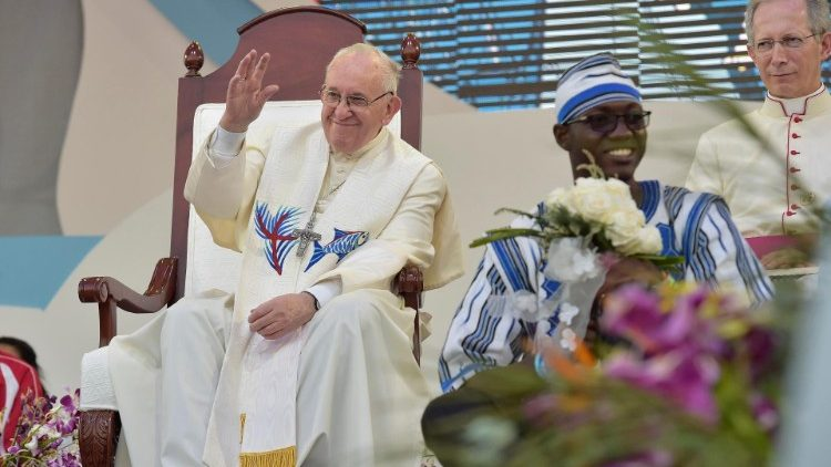 Pope Francis during World Youth Day in Panama